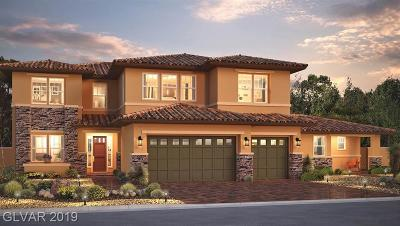 Las Vegas Single Family Home For Sale: 7290 El Malpais Street #LOT 2002