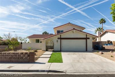 Las Vegas Single Family Home For Sale: 5321 Ganado Drive