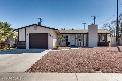 Las Vegas NV Single Family Home For Sale: $308,000