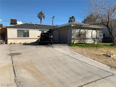 Las Vegas Single Family Home For Sale: 612 Wallace Drive