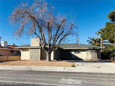 LAS VEGAS Single Family Home For Sale: 1808 West Mesquite Avenue