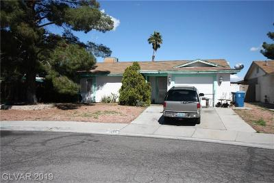 Las Vegas NV Single Family Home Under Contract - No Show: $190,000