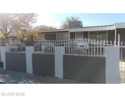 North Las Vegas Single Family Home For Sale: 2909 Holmes Street