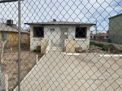 North Las Vegas Single Family Home Under Contract - No Show: 1816 Harding Street