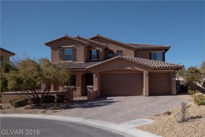 Las Vegas NV Single Family Home For Sale: $825,000