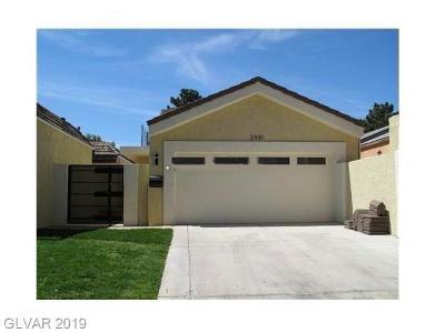 Las Vegas Cntry Club Fairway E, Las Vegas Cntry Club Garden Ho, Las Vegas Cntry Club Villas #1 Single Family Home For Sale: 2981 Bel Air Drive
