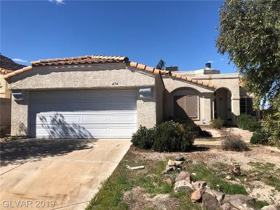 Henderson Single Family Home For Sale: 474 Tiger Lily Way