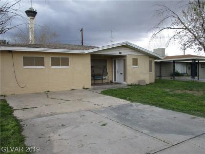 Las Vegas Single Family Home For Sale: 2200 6th Street