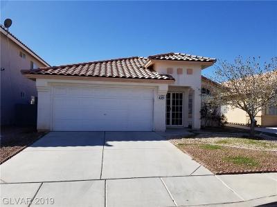 Las Vegas Single Family Home For Sale: 4369 Cedar Knolls Drive