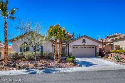 Las Vegas Single Family Home For Sale: 11629 La Mirago Place