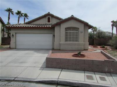 Las Vegas Single Family Home For Sale: 279 Gray Granite Avenue