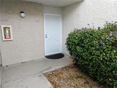 Las Vegas NV Condo/Townhouse For Sale: $120,000