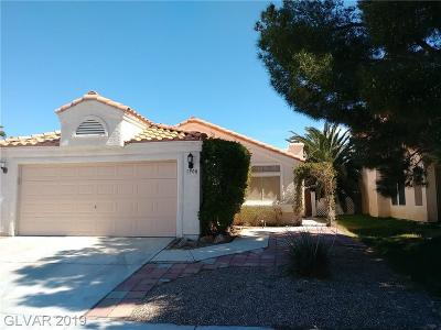 Las Vegas Single Family Home For Sale: 1900 Bookbinder Drive