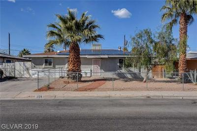 North Las Vegas Single Family Home For Sale: 1104 Taylor Avenue