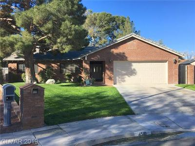 Clark County Single Family Home For Sale: 4581 Paseo El Rio Drive