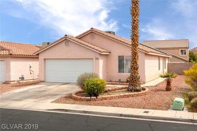 North Las Vegas Single Family Home Under Contract - No Show: 5526 Ramirez Street