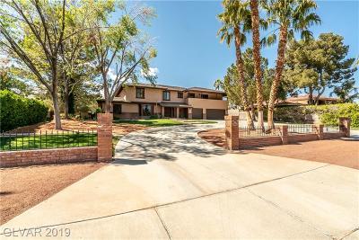 Single Family Home For Sale: 2665 South Tenaya Way