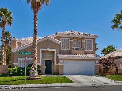 Las Vegas Single Family Home Under Contract - No Show: 7248 Cottonsparrow Street