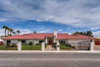 Las Vegas Single Family Home For Sale: 2942 Tenaya Way