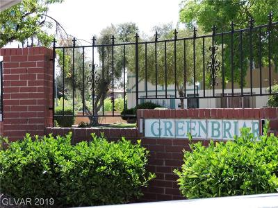 Condo/Townhouse For Sale: 103 Greenbriar Townhouse Way