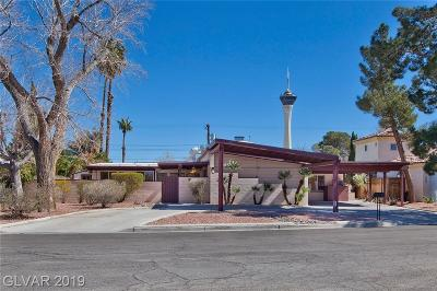 Las Vegas Single Family Home For Sale: 1712 Birch Street