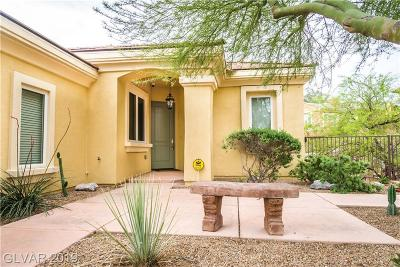 HENDERSON Single Family Home For Sale: 2 Cerchio Centrale