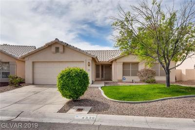 North Las Vegas Single Family Home For Sale: 4339 Rippling Brook Drive