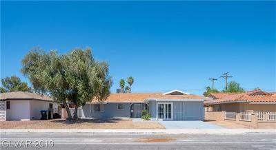 Las Vegas Single Family Home For Sale: 1912 Mesquite Avenue