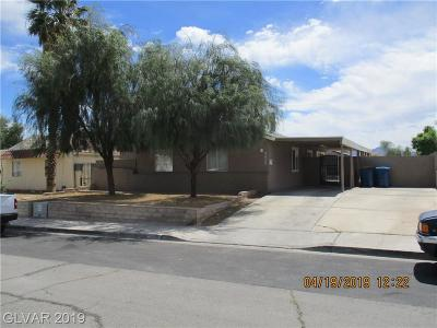 Las Vegas Single Family Home For Sale: 5439 Plainview Avenue