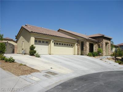 Las Vegas Single Family Home For Sale: 8220 Sienna Skies Court