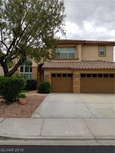 Henderson Single Family Home For Sale: 214 Ultra Drive