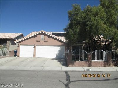 Las Vegas Single Family Home For Sale: 8196 Grizzly Bear Way