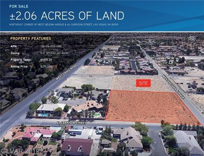 Centennial Hills Residential Lots & Land For Sale: Helena Ave.