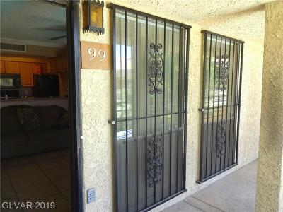 Las Vegas NV Condo/Townhouse For Sale: $73,000
