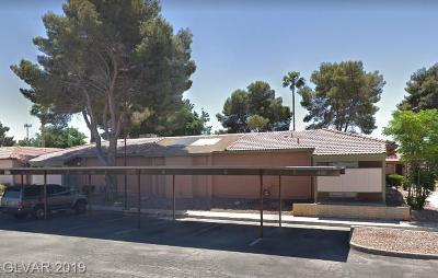 Las Vegas NV Condo/Townhouse For Sale: $99,000