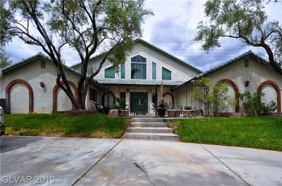 Las Vegas Single Family Home For Sale: 3285 Lindell Road