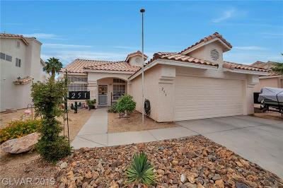 Henderson Single Family Home For Sale: 251 Mariposa Way