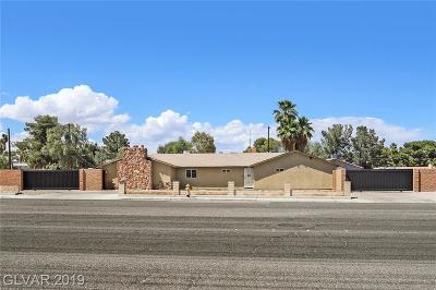 Las Vegas Single Family Home For Sale: 3600 Russell Road
