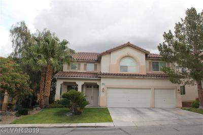 Henderson Single Family Home For Sale: 1008 Paradise View Street
