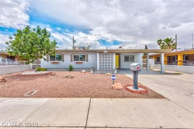 North Las Vegas Single Family Home For Sale: 2609 Hickey Avenue