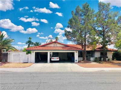 Las Vegas Single Family Home For Sale: 1504 Bamber Drive