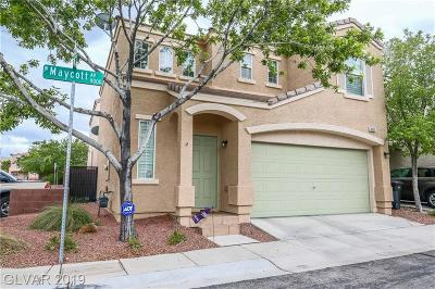 Las Vegas Single Family Home Under Contract - No Show: 9055 Maycott Avenue