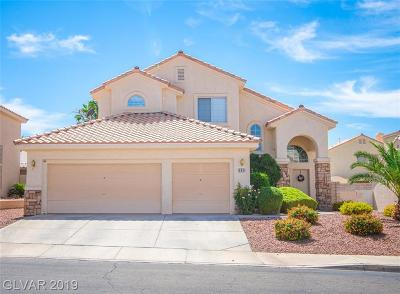 Henderson Single Family Home For Sale: 263 Datura Street