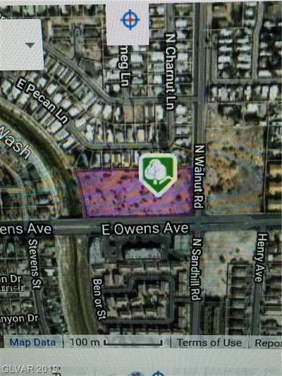 Las Vegas Residential Lots & Land For Sale: Owens & Walnut