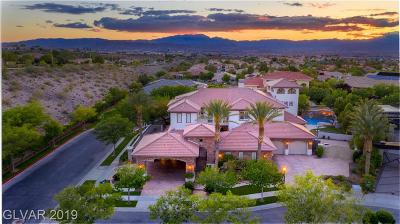 Henderson NV Single Family Home For Sale: $1,950,000