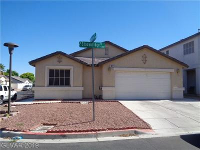 Las Vegas Single Family Home For Sale: 4337 Stockbridge Street