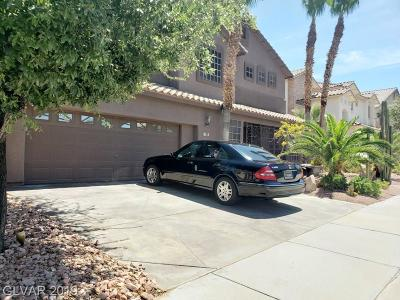 Henderson Single Family Home For Sale: 1308 Calle Cantar