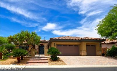 Las Vegas Single Family Home For Sale: 9675 Bella Citta Street