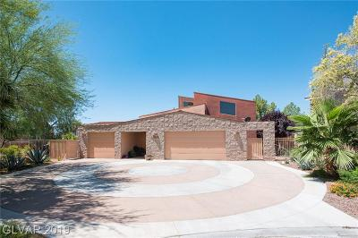 Las Vegas Single Family Home For Sale: 3269 Strada Olivero