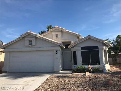 North Las Vegas Single Family Home For Sale: 1723 Watercreek Drive